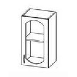 ШСТ 40 Шкаф Ева витрина навесной (400*300*720)