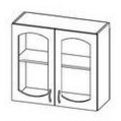 ШСТ 80 Шкаф Ева витрина навесной (800*300*720)