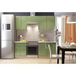 Кухонный гарнитур М-Трава зеленая 01