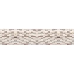 Камень полоска (белый с бежевым) AL-09