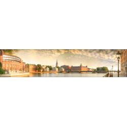 Стеновая панель фотопечать Город на воде AL-31