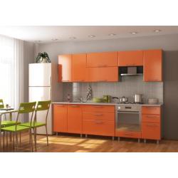 Кухня Оптима №1 цвет Оранж