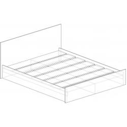 Кровать 1,4 м Валерия 1500*800*2032