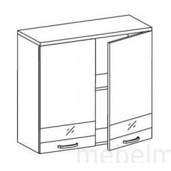 Шкаф Олимпия ШГ-80 шкаф навесной 2-х дверный (800*300*720)