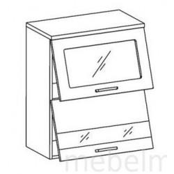 Шкаф Олимпия ШСТ-60Г шкаф витрина навесной горизонтальный (600*300*720)