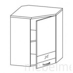Шкаф Олимпия ШУ-60 шкаф навесной угловой (600*600*720)