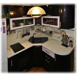 Угловая Кухня Красный хамелеон
