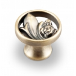 Ручка-кнопка, RK-010, бронза
