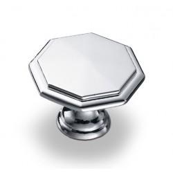 Ручка-кнопка, K-1080, хром